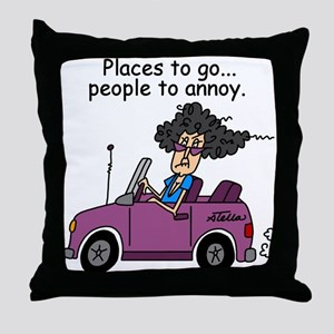 Annoying People Throw Pillow