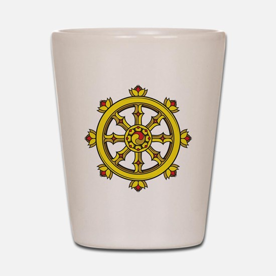 Dharmachakra Wheel Shot Glass