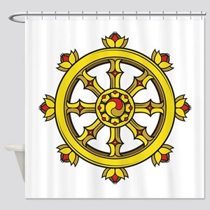Dharmachakra Wheel Shower Curtain