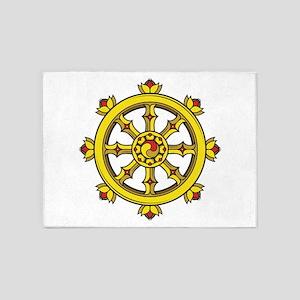 Dharmachakra Wheel 5'x7'Area Rug