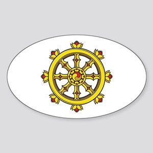 Dharmachakra Wheel Sticker (Oval 10 pk)