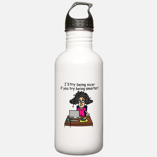 Intelligence Sarcasm Water Bottle