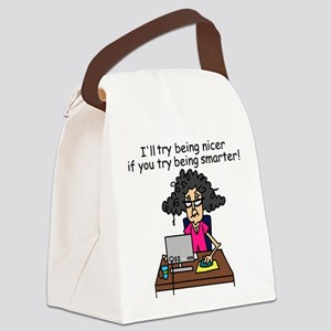Intelligence Sarcasm Canvas Lunch Bag