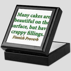 Many Cakes Are Beautiful Keepsake Box