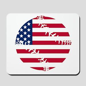 American Flag Baseball Mousepad