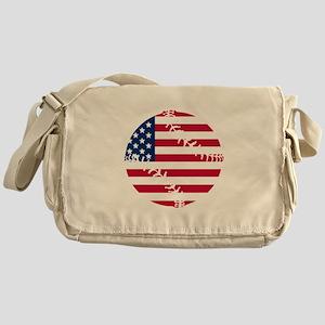 American Flag Baseball Messenger Bag