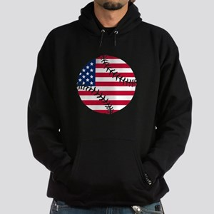 American Flag Baseball Hoodie