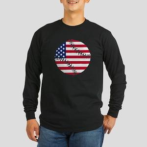 American Flag Baseball Long Sleeve T-Shirt
