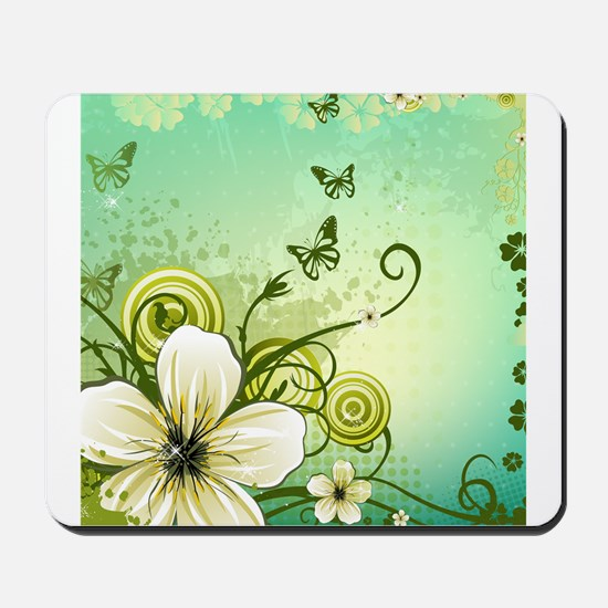 Flower and Butterflies Mousepad