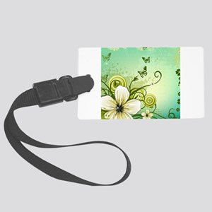 Flower and Butterflies Luggage Tag