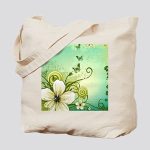 Flower and Butterflies Tote Bag