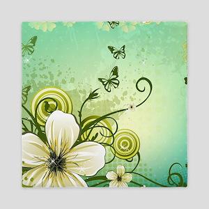 Flower and Butterflies Queen Duvet