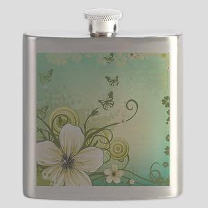Flower and Butterflies Flask