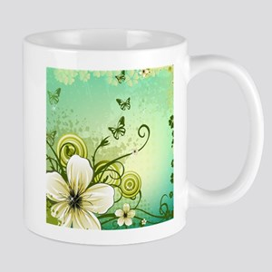 Flower and Butterflies Mugs