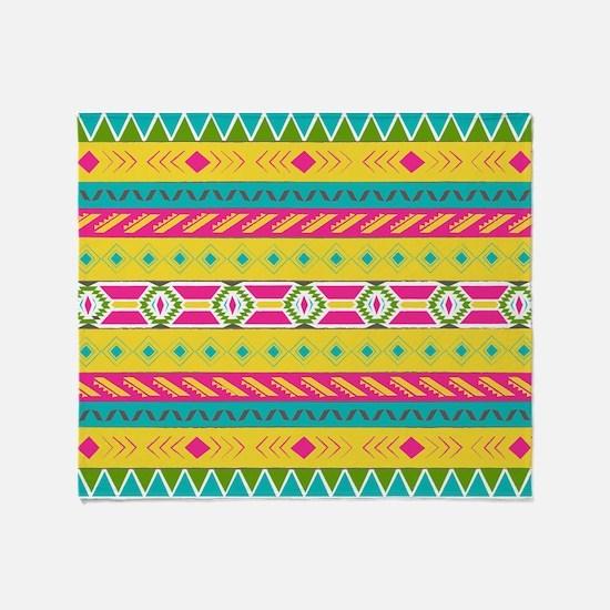 Tribal Brights Throw Blanket