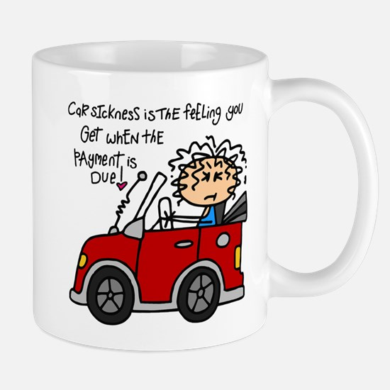 Car Sickness Humor Mug