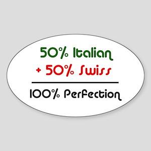 Italian & Swiss Oval Sticker