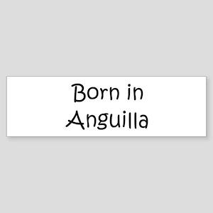 Born in Anguilla Bumper Sticker
