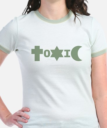 ToXiC Faith Logo Shirt (Mint Ringer)