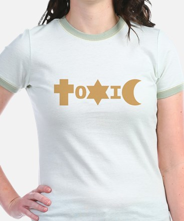 ToXiC Faith Logo Shirt (Gold Ringer)