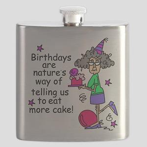 Birthday Cake Humor Flask