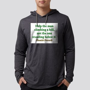 Help The Man Climbing A Hill Mens Hooded Shirt