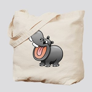 Cartoon Hippopotamus Tote Bag