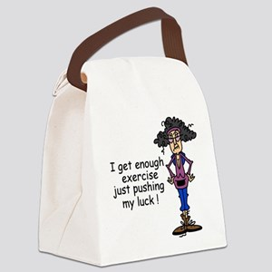 Exercise Humor Canvas Lunch Bag