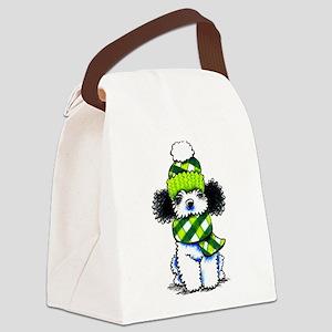 Parti Poodle Scarf Canvas Lunch Bag