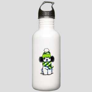 Parti Poodle Scarf Stainless Water Bottle 1.0L