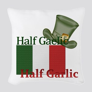 halfgaelichalfgarlichatandflag Woven Throw Pillow