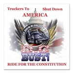 DC or Bust Square Car Magnet 3
