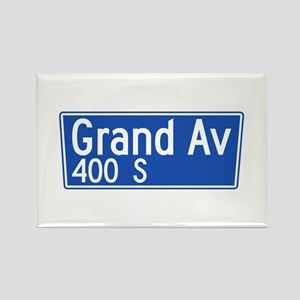 Grand Ave., Los Angeles - USA Rectangle Magnet