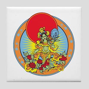 Green Tara Tile Coaster