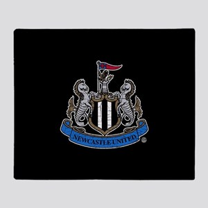 Vintage Newcastle United FC Crest Throw Blanket