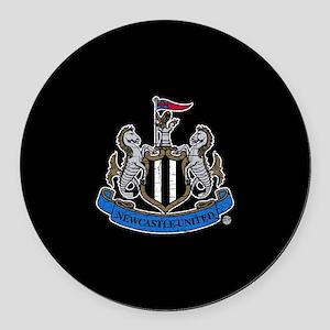 Vintage Newcastle United FC Crest Round Car Magnet