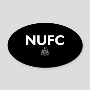 Newcastle United FC- Full Bleed Oval Car Magnet