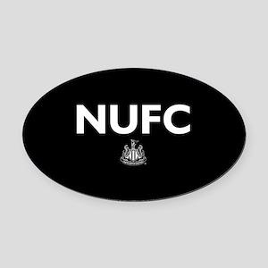 Newcastle United FC- Full Bleed Oval Car Magnet