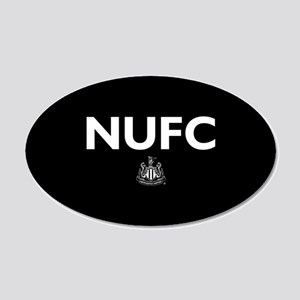 Newcastle United FC- Full Bl 20x12 Oval Wall Decal