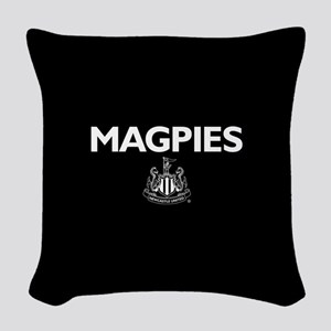 Magpies NUFC- Full Bleed Woven Throw Pillow