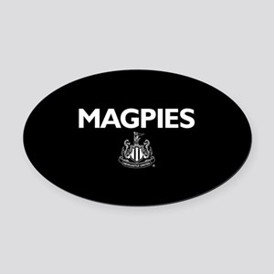 Magpies NUFC- Full Bleed Oval Car Magnet