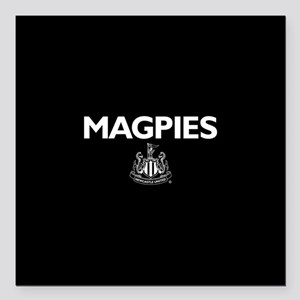 "Magpies NUFC- Full Bleed Square Car Magnet 3"" x 3"""