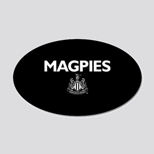 Magpies NUFC- Full Bleed 20x12 Oval Wall Decal