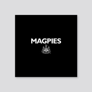 """Magpies NUFC- Full Bleed Square Sticker 3"""" x 3"""""""