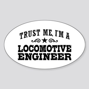 Locomotive Engineer Sticker (Oval)