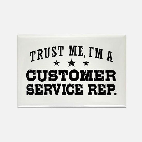 Customer Service Rep. Rectangle Magnet