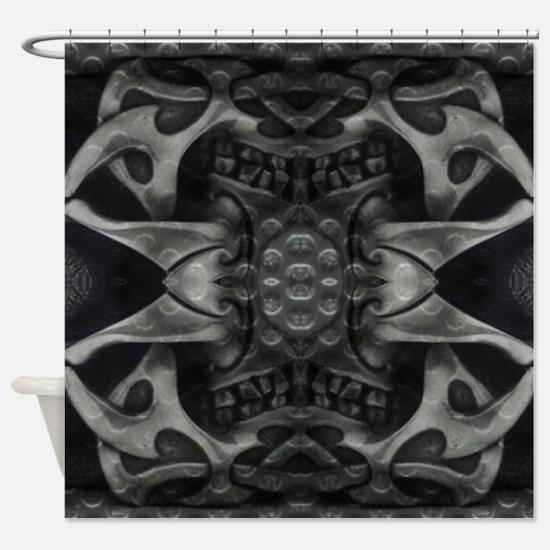 heavy metal cross Shower Curtain