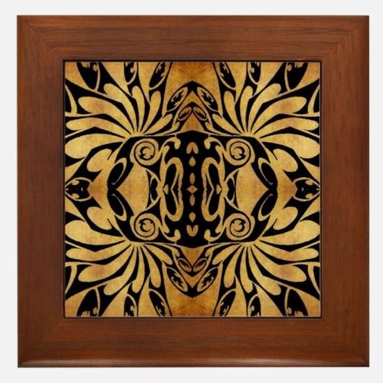 african primitive tribal  Framed Tile