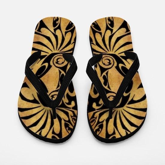 african primitive tribal  Flip Flops