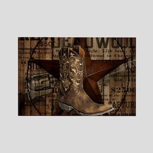 western cowboy Magnets